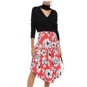 MARISSA WEBB Asymmetric floral cotton skirt E17